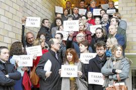 IBIZA CONCENTRACION PROTESTA CONTRA TASAS JUDICIALES