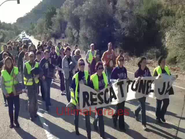 Los anti-peaje de Sóller y Bunyola vuelven a reclamar el rescate del túnel y el pago de la deuda