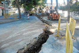 El Ajuntament de Felanitx realiza las reclamadas obras del alcantarillado de Portocolom