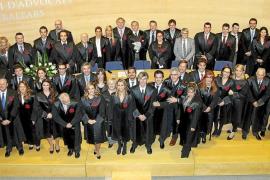 Acto de jura de nuevos colegiados en el Colegio de Abogados de Balears