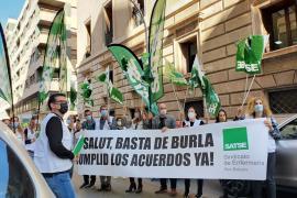 Protesta de los sindicatos sanitarios ante el IB-Salut