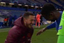 Polémica imagen de Hazard riéndose tras la eliminación del Real Madrid