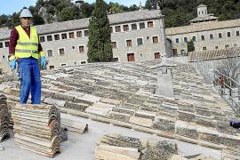 Avanzan a buen ritmo las obras de reparación del Santuari de Lluc