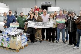 Taxistas autónomos de Mallorca vuelcan su solidaridad en el Banco de Alimentos