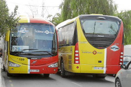 IBIZA - TRANSPORTE PUBLICO - AUTOBUSES DE IBIZA .  BUS .