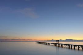 Amanecer en la playa del Port d'Alcúdia