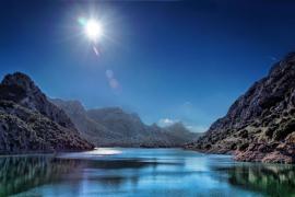 Embalse del Gorg Blau en la Serra de Tramuntana de Mallorca