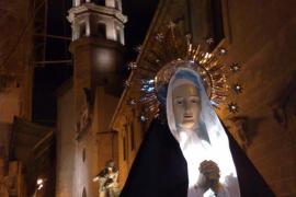 Procesión de Semana Santa en Carrer Socors de Palma de Mallorca
