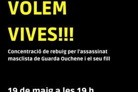 Concentración en Palma por el doble crimen de sa Pobla
