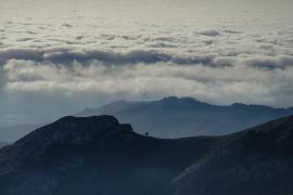 Puig de Galatzó con nubes