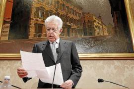 Monti guiará una coalición de partidos de centro pero no será candidato
