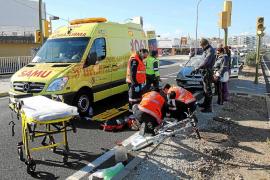 Hospitalizado un ciclista tras ser atropellado en la carretera de Manacor