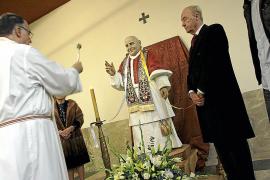 Bendecida una talla de Juan XIII, el 'Papa bueno', en San Alonso Rodríguez