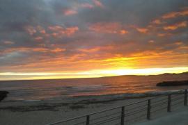 Puesta de sol en Es Molinar de Mallorca