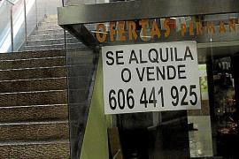 La crisis provoca una rebaja del precio de los alquileres comerciales del 40 % en Palma