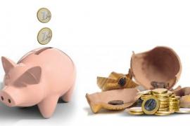 La tasa de ahorro de los hogares cae  hasta el 7,6% de su renta disponible