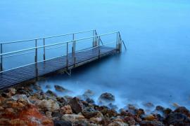 Muelle de Cala Bona en Mallorca