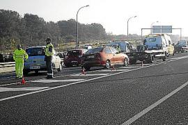 Nuevo accidente por la niebla en la autopista de Llucmajor donde hubo otro mortal hace 12 días