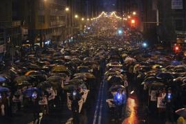 Miles de personas secundan en Bilbao la manifestación por los presos de ETA