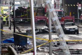 Un helicóptero se estrella contra una grúa en Londres provocando dos muertes