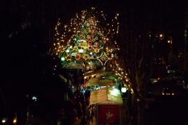 Luces de Navidad en la Rambla de Palma