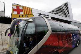 El Barça viaja en autocar a Milán debido a la nube de ceniza