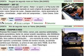 Las empresas denuncian la venta 'pirata' de coches de ocasión