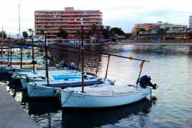 barcas en el muelle de Can Pastilla