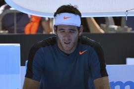 Del Potro descarrila mientras Federer y Murray siguen a su ritmo