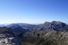 La Serra de Tramuntana desde el Massanella