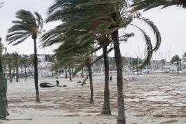 Los vientos dejan 48 incidentes, un herido leve y ráfagas de 130 km/h en Balears