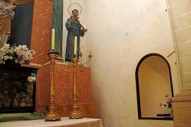 El párroco de Gènova denuncia el robo de la imagen de Santa Rita de la iglesia