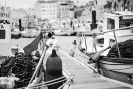 Barcos de pesca en el puerto de Ciutadella