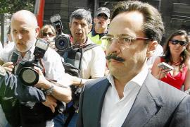 """Alvaro Perez """"El Bigotes """" llega a la audiencia de Valencia para declarar en el Caso Gürtel."""
