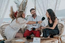 Marilena entrevistando a Jaime Verd y Lorena Peláez para Mallorca Slow Life TV.