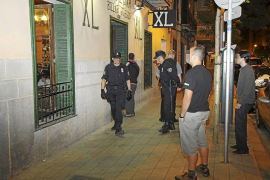 PALMA . DELITOS COMUNES. NUEVA REDADA DE LA POLICIA LOCAL DE PALMA EN LOCALES DE OCIO NOCTURNO.