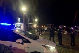 Un momento del despliegue policial de esta noche en el Marítimo