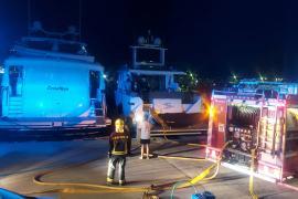 Un herido tras declararse un incendio en un yate en el Port d'Andratx