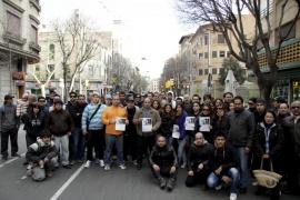 La familia y amigos del joven desaparecido en Palma se concentran para pedir ayuda
