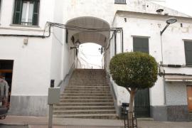 calles del centro de Alaior, pueblo de Menorca