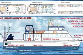 El nuevo catamarán oceanográfico del SOCIB surca las aguas de Balears