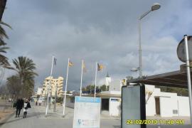 Banderas en la Playa de Palma