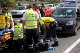 Herido grave un hombre al ser atropellado cuando cruzaba la carretera de Sóller