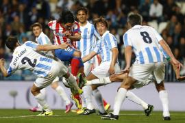El Málaga da por bueno empate ante Atlético que notó el desgaste de Copa