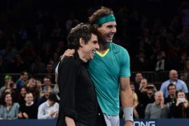 Nadal juega con el actor Ben Stiller en el Madison Square