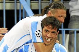El Málaga prolonga su sueño europeo
