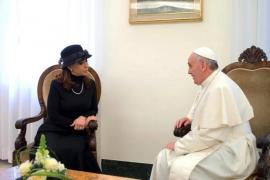 El papa recibe a Cristina Fernández, en su primera audiencia a un mandatario