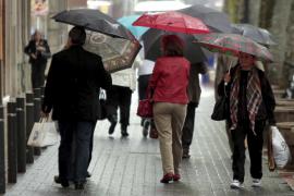 Mallorca vive una jornada de lluvias generalizadas y continuadas