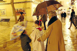 La lluvia suspendió anoche la procesión de La Dolorosa