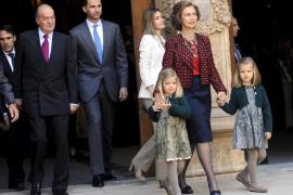 La reina, los príncipes y la infanta Elena irán a la misa de Pascua en Palma